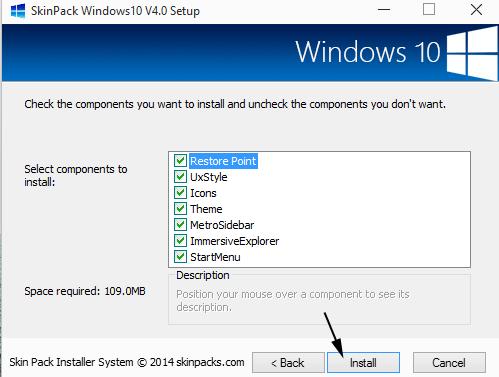 cài đặt giao diện windows 10