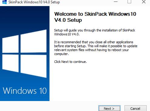 cài đặt cài đặt SkinPack windows 10