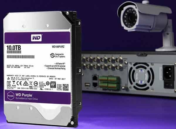 ổ cứng camera Western purple