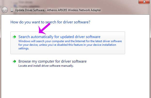 Cập nhật driver USB