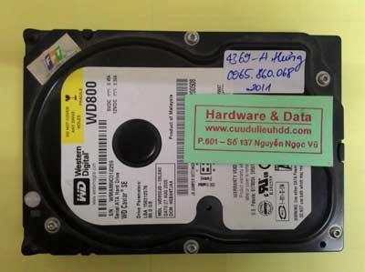 khôi phục dữ liệu WD800