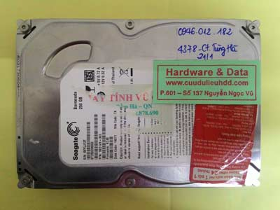 phục hồi dữ liệu Seagate 250GB