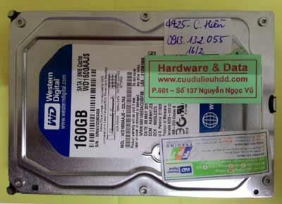 khôi phục dữ liệu WD1600AAJS