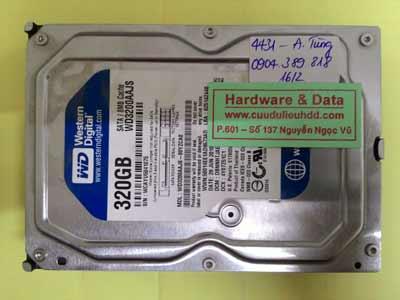 khôi phục dữ liệu WD3200AAJS