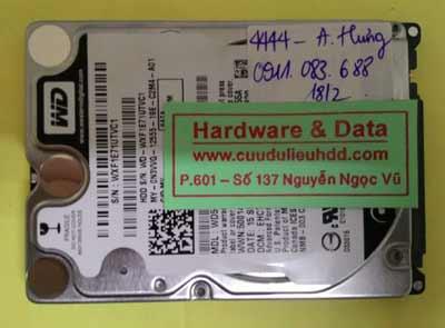 cứu dữ liệu Western 500GB