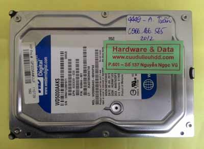 khôi phục dữ liệu WD5000AAKS
