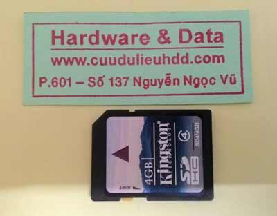 cứu dữ liệu thẻ nhớ KingSton 4GB