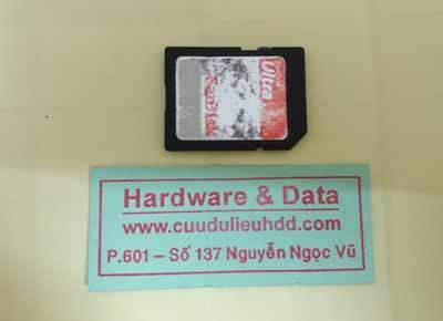 khoi phuc du lieu the Sandisk 16GB