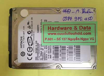 khôi phục dữ liệu HTS545032B9A300