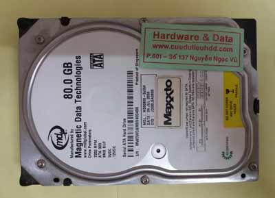 khôi phục dữ liệu maxtor 80GB