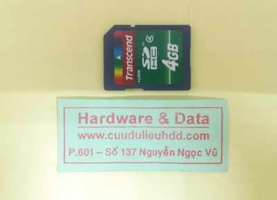cứu dữ liệu thẻ nhớ 4GB