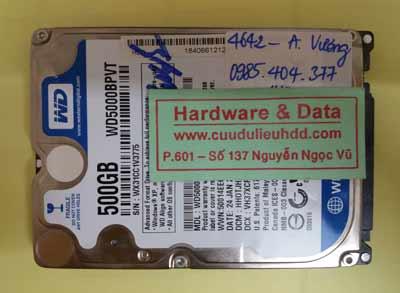 Khôi phục dữ liệu WD5000BPVT