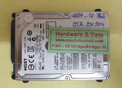 cứu dữ liệu HTS721010A9E630