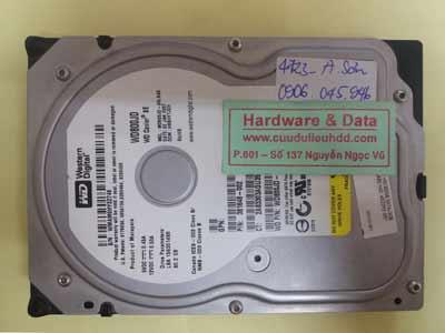 cứu dữ liệu WD800JD