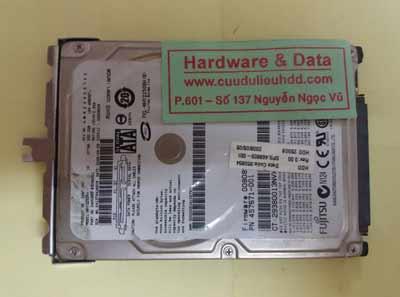 phục hồi dữ liệu Fujitsu 250GB