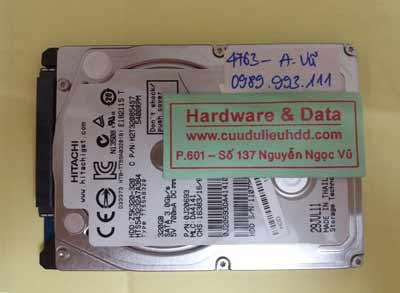 khôi phục dữ liệu Hitachi 320GB