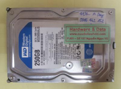 khôi phục dữ liệu WD2500AAJS