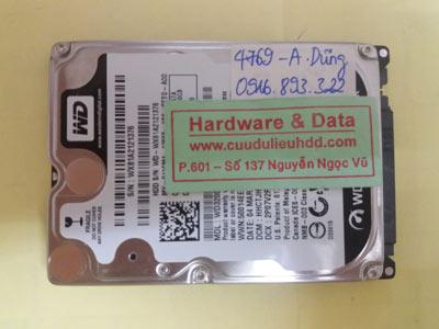 khôi phục dữ liệu WD3200BEKT