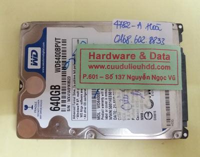 khôi phục dữ liệu WD640BPVT