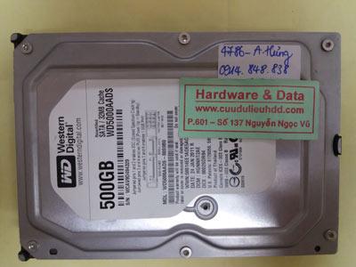 khôi phục dữ liệu WD500AADS