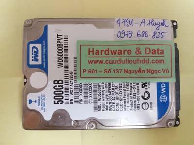 cứu dữ liệu WD5000BPVT