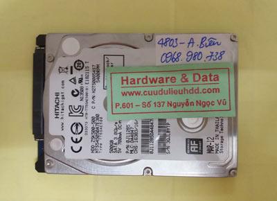 phục hồi dữ liệu Hitachi 500GB