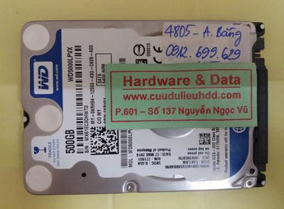 khôi phục dữ liệu WD5000LPVX.