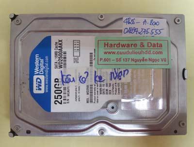 khôi phục dữ liệu WD2500AAKX