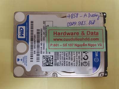 khôi phục dữ liệu WD3200BEVT