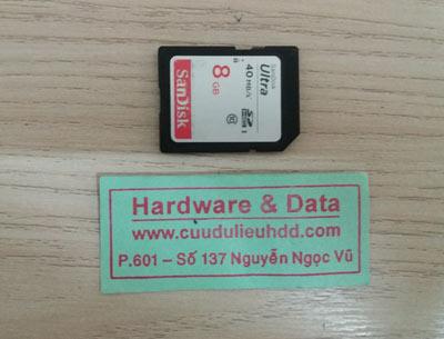 phục hồi dữ liệu thẻ SD 8GB