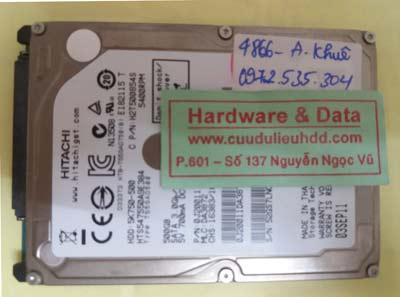 khôi phục dữ liệu HTS547550A9E384