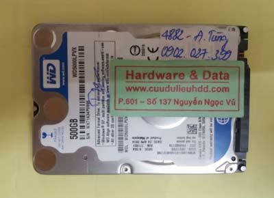 phục hồi dữ liệu WD5000LPVX