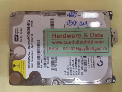 khôi phục dữ liệu WD5000BMVW