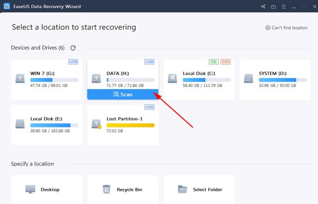 Cứu dữ liệu ổ cứng bị format bằng EaseUS Data Recovery