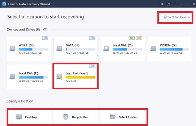 cứu dữ liệu ổ cứng bằng EaseUS Data Recovery