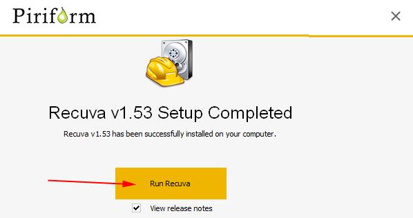 phần mềm khôi phục dữ liệu Recuva