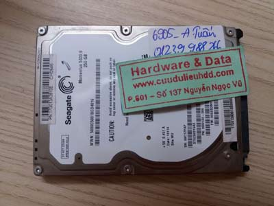 Lấy dữ liệu ổ cứng Seagate 250GB