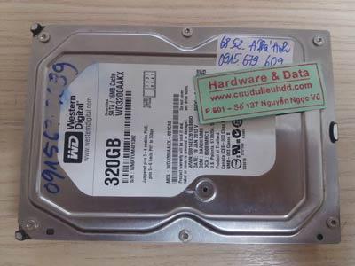Lấy lại dữ liệu ổ cứng Western 320GB