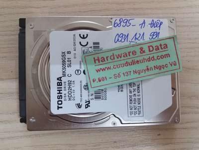 Lấy lại dữ liệu Toshiba 500GB