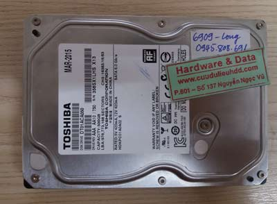 khôi phục dữ liệu ổ cứng Toshiba 500GB