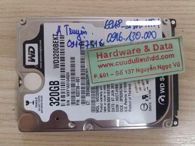 lấy lại dữ liệu Western 320GB