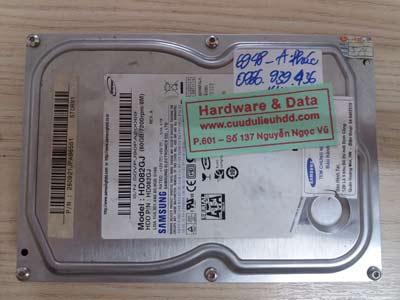 Khôi phục dữ liệu ổ cứng Samsung 80gb