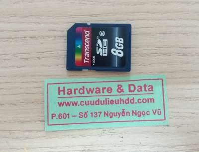 Lấy lại dữ liệu thẻ nhớ 8GB