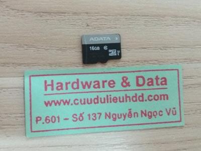 10/11 thẻ nhớ 16GB mất dữ liệu
