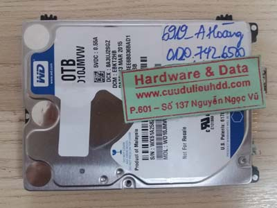 Lấy lại dữ liệu ổ cứng Western 1tB