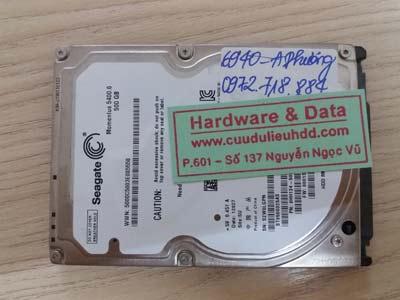 Khôi phục dữ liệu Seagate 500GB
