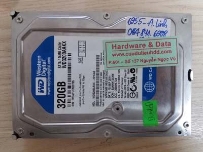 Cứu dữ liệu ổ cứng WD3200AAKX