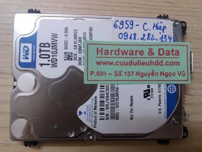 Khôi phục dữ liệu ổ cứng Western 1TB