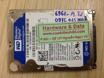 Khôi phục dữ liệu Western 500gb