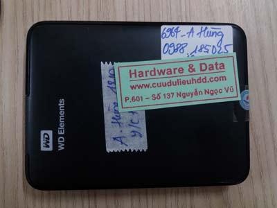 Cứu dữ liệu ổ cứng di động 1TB